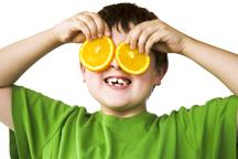 kid with orange eyes