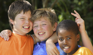 three young friends - boys